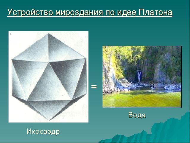 Устройство мироздания по идее Платона Икосаэдр Вода =