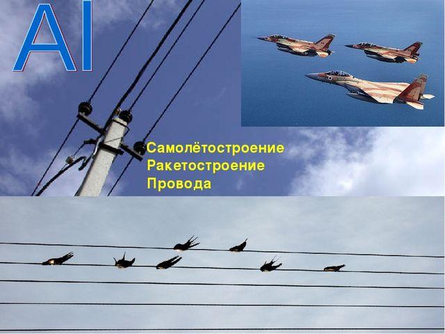Самолётостроение Ракетостроение Провода