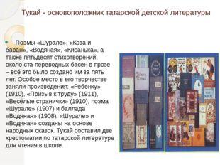 Тукай - основоположник татарской детской литературы  Поэмы «Шурале», «Коза