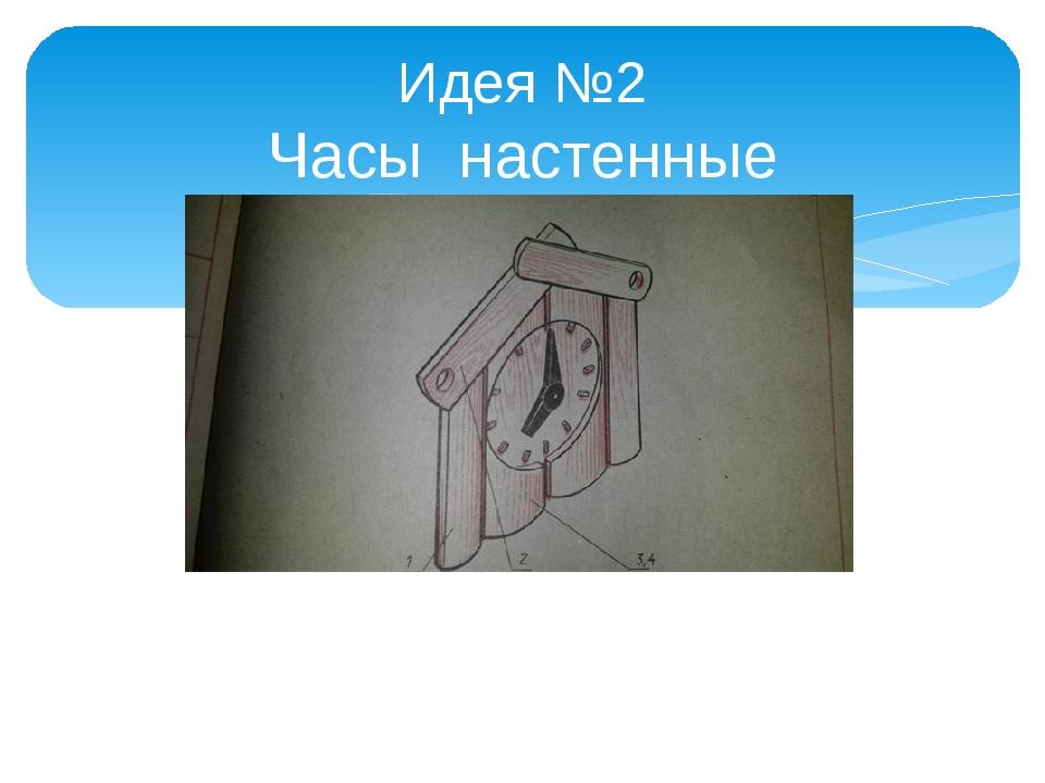 Идея №2 Часы настенные «Скворечник»