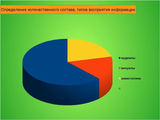 Определение количественного состава, типов восприятия информации