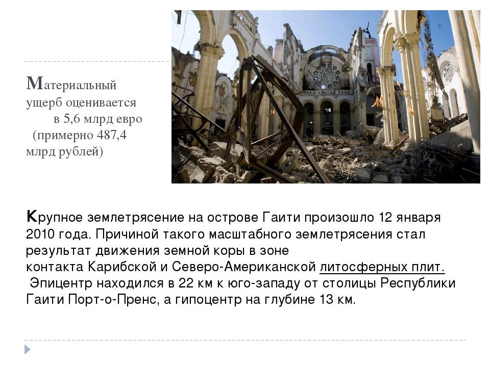Материальный ущерб оценивается в 5,6млрд евро (примерно 487,4 млрд рублей) К...