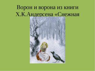 Ворон и ворона из книги Х.К.Андерсена «Снежная Королева»