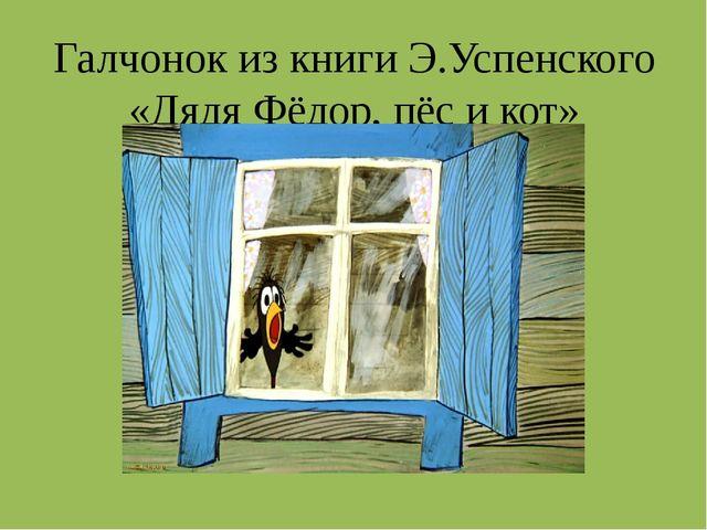 Галчонок из книги Э.Успенского «Дядя Фёдор, пёс и кот»
