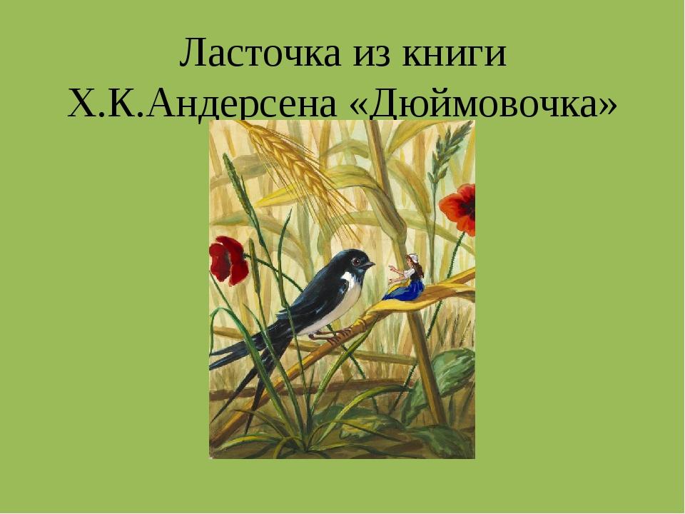 Ласточка из книги Х.К.Андерсена «Дюймовочка»