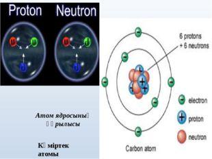 Атом ядросының құрылысы Көміртек атомы