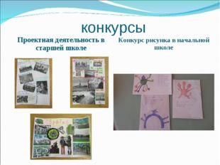 конкурсы Проектная деятельность в старшей школе Конкурс рисунка в начальной ш