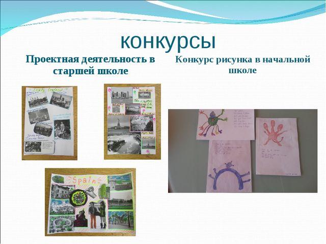 конкурсы Проектная деятельность в старшей школе Конкурс рисунка в начальной ш...