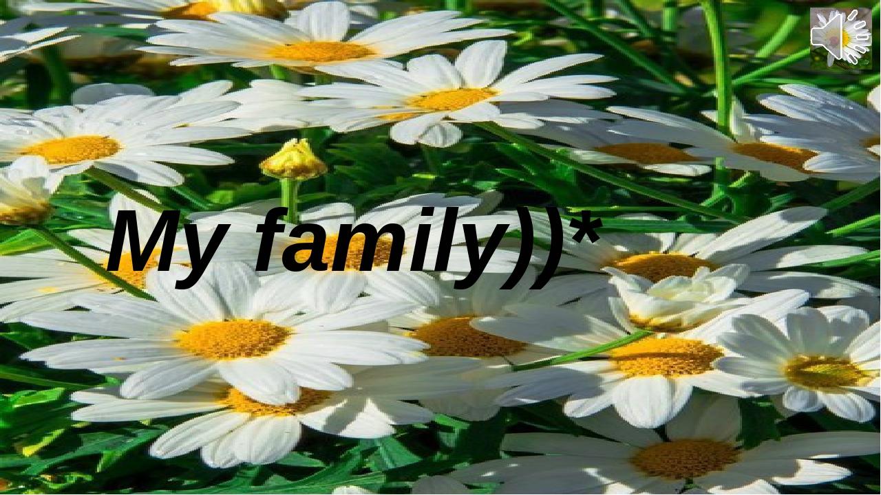 My family))*                      Sadykova M.