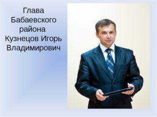 Глава Бабаевского района Кузнецов Игорь Владимирович