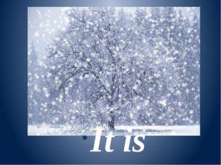 It is snowy.