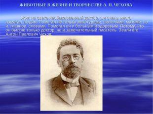 ЖИВОТНЫЕ В ЖИЗНИ И ТВОРЧЕСТВЕ А. П. ЧЕХОВА Жил на свете необыкновенный докт