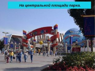 На центральной площади парка.