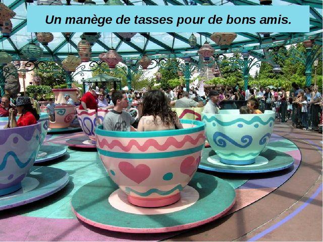 Un manège de tasses pour de bons amis.