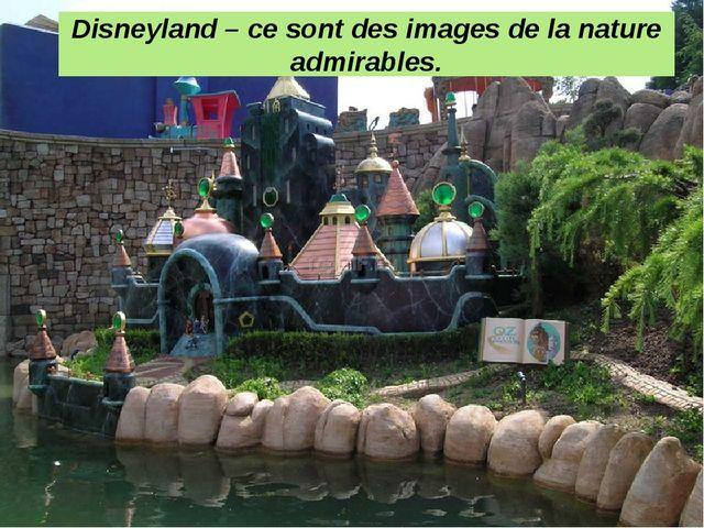 Disneyland – ce sont des images de la nature admirables.