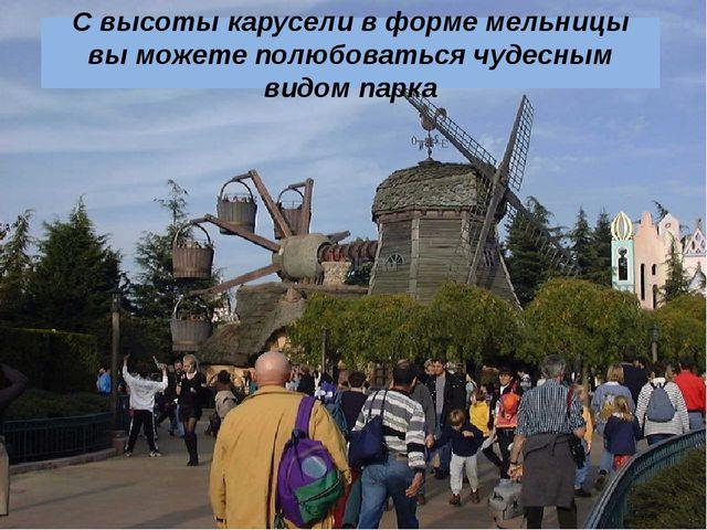 С высоты карусели в форме мельницы вы можете полюбоваться чудесным видом парка