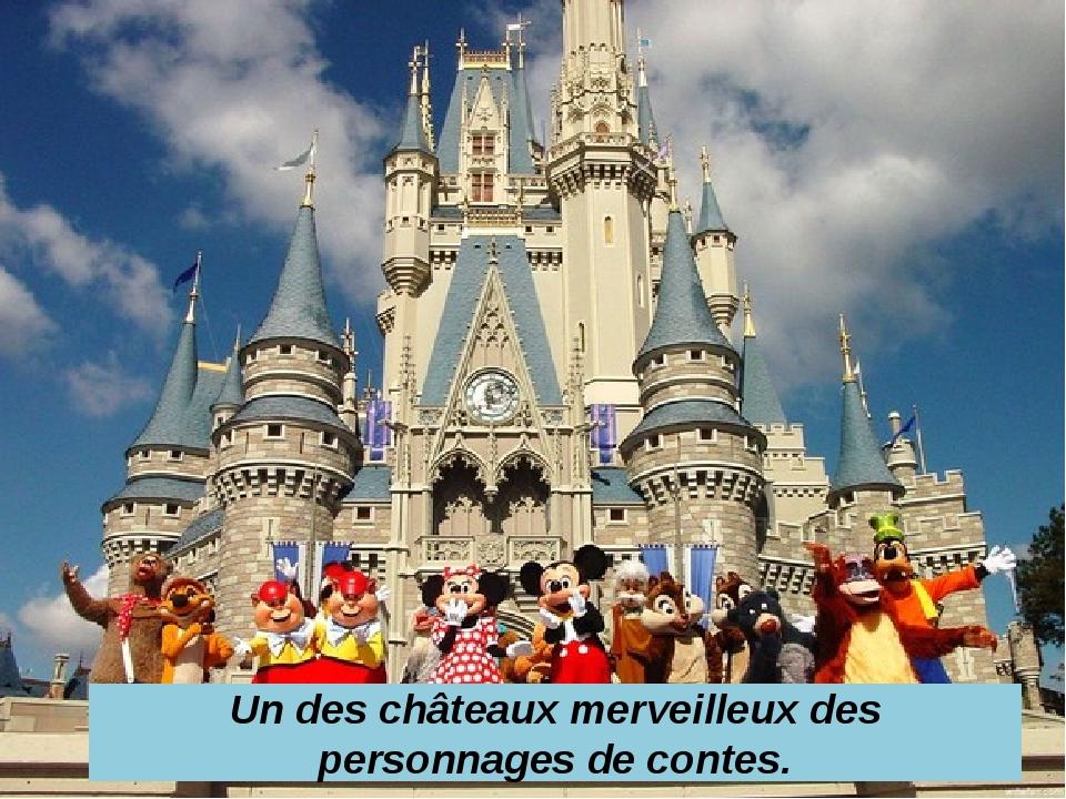 Un des châteaux merveilleux des personnages de contes.