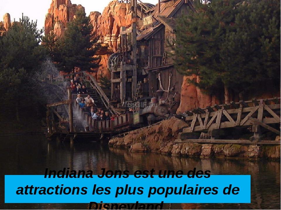 Indiana Jons est une des attractions les plus populaires de Disneyland.