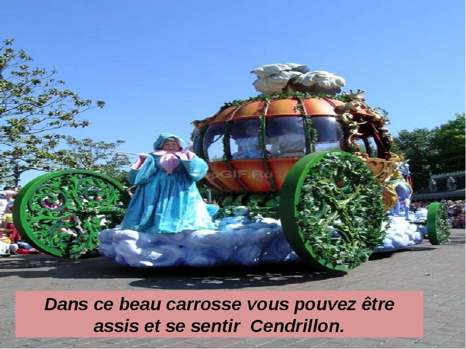 Dans ce beau carrosse vous pouvez être assis et se sentir Cendrillon.