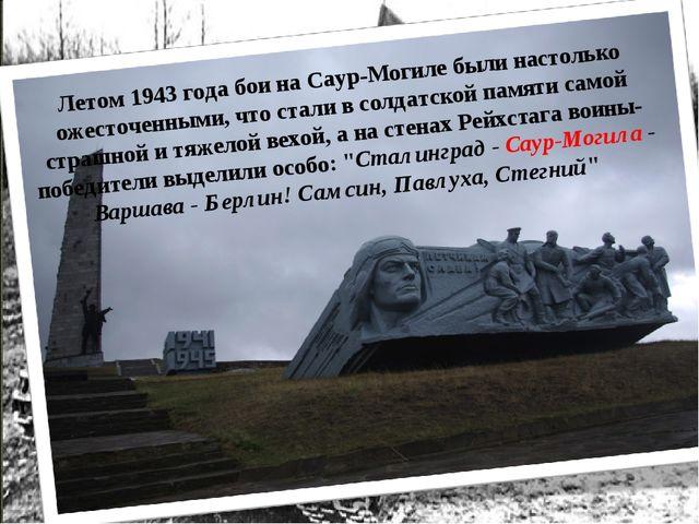 Летом 1943 года бои на Саур-Могиле были настолько ожесточенными, что стали в...