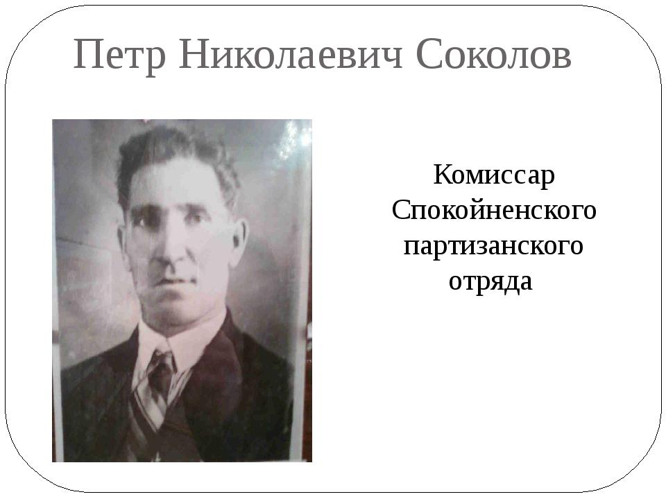 Петр Николаевич Соколов Комиссар Спокойненского партизанского отряда