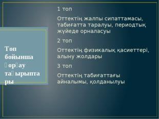 1 топ Оттектің жалпы сипаттамасы, табиғатта таралуы, периодтық жүйеде орналас