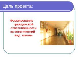 Цель проекта: Формирование гражданской ответственности за эстетический вид шк