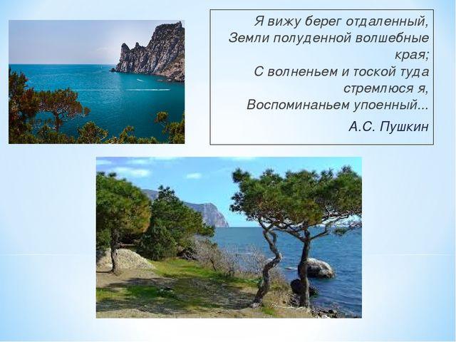 Я вижу берег отдаленный, Земли полуденной волшебные края; С волненьем и тоско...