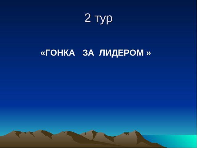 2 тур «ГОНКА ЗА ЛИДЕРОМ »