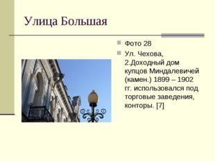 Улица Большая Фото 28 Ул. Чехова, 2.Доходный дом купцов Миндалевичей (камен.)