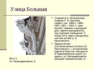 Улица Большая Усадьба И.А. Калашникова, позднее П. И. Крылова, (камен.) кон.