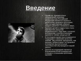 Введение Одним из приоритетных направлений политики правительства Российской