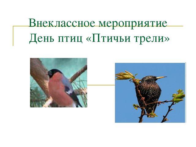Внеклассное мероприятие День птиц «Птичьи трели»