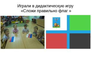 Играли в дидактическую игру «Сложи правильно флаг »