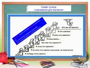 Секрет успеха: «оценивание для обучения» Критерии служат ученикам гидом, пока