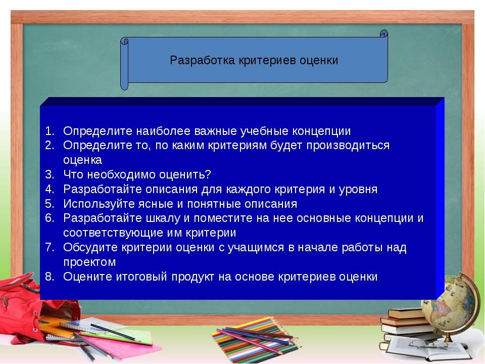 Определите наиболее важные учебные концепции Определите то, по каким критери...