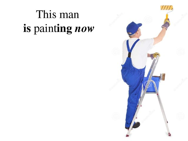 This man is painting now