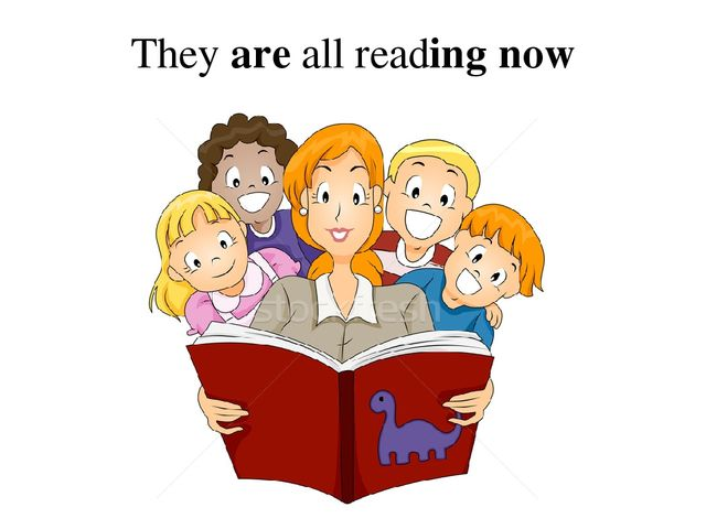 They are all reading now