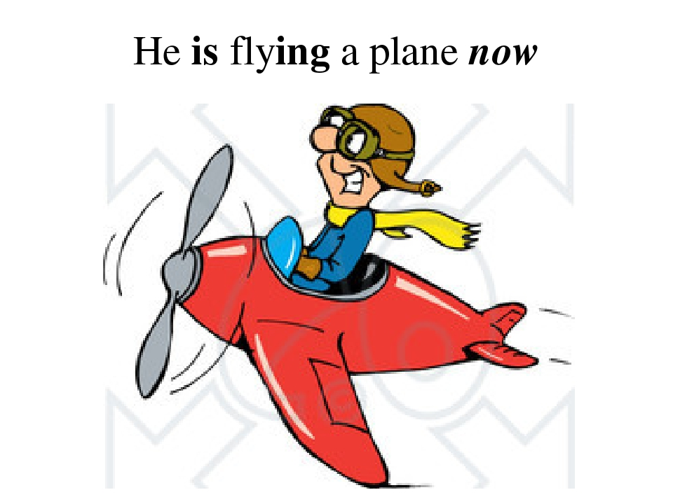 He is flying a plane now
