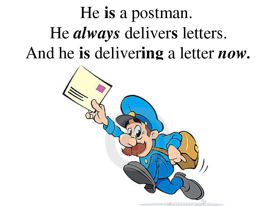 He is a postman. He always delivers letters. And he is delivering a letter now.