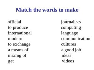 official journalists to produce computing international language modern comm