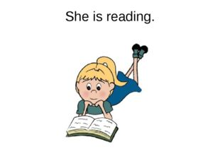 She is reading.