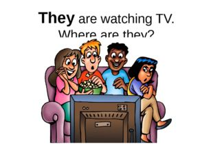 They are watching TV. Where are they?