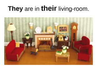 They are in their living-room.