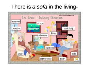 There is a sofa in the living-room