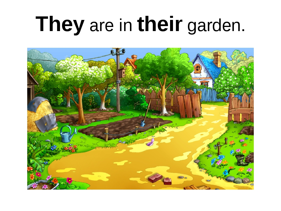 They are in their garden.