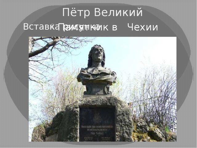Пётр Великий Памятник в Чехии