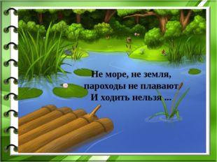 Не море, не земля, пароходы не плавают И ходить нельзя ...