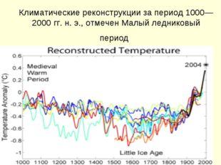 Климатические реконструкции за период 1000—2000гг. н.э., отмечен Малый лед