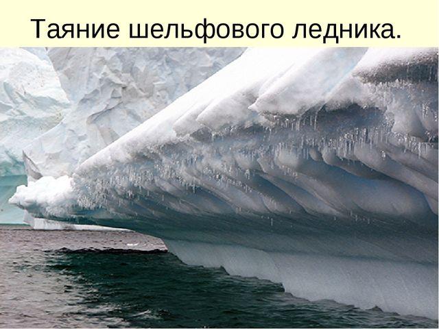 Таяние шельфового ледника.